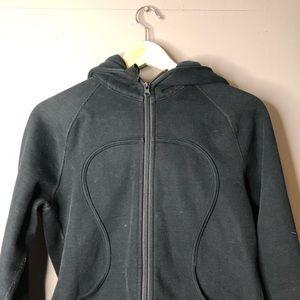 lululemon athletica Tops - Lululemon black scuba hoodie sweater size 8